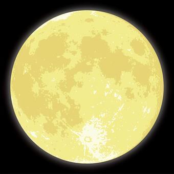 中秋節的月亮黑色背部