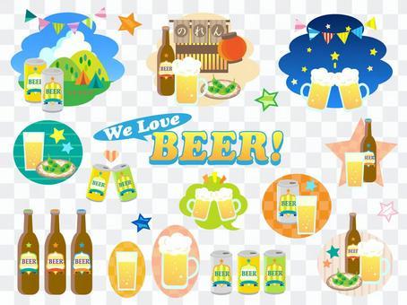 Beer illustration set