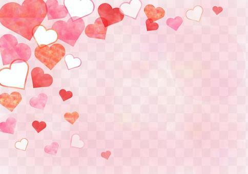 粉紅色的心_粉彩背景