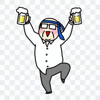 啤酒中年男人