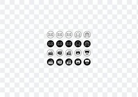 Email & Fax Icon