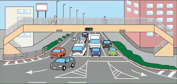 交叉路口汽車道路道路交通擁堵