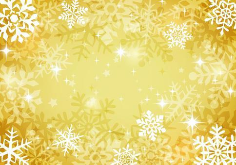 冬天背景4雪水晶
