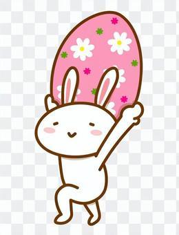 復活節彩蛋和兔子