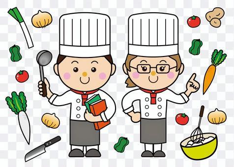 33_01男人和女人(炊具,蔬菜)