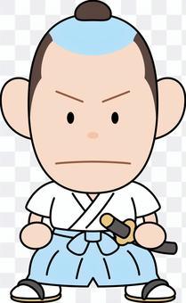 Comical samurai gorge