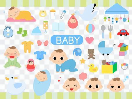 嬰兒的插圖集