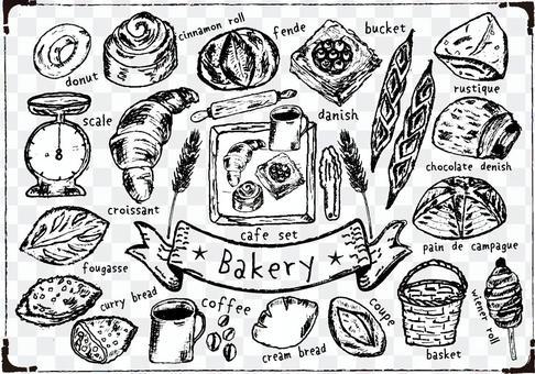 正宗的麵包店手寫集