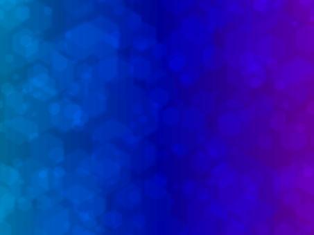 겹치는 다수의 파란색 육각형