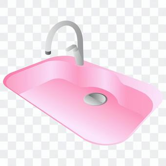 水槽(粉紅色)