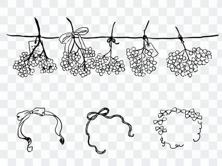 Gypsophila garland