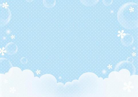 프레임 * 거품 거품 _ 블루