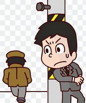 一名偵探罪犯的插圖