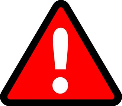 """""""Caution (red, bordered)"""" icon"""