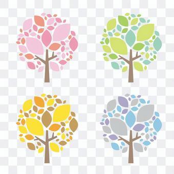 사계절 나무