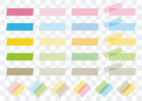 Masking tape pattern material