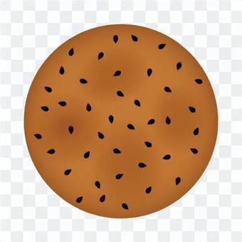 Sesame rice cracker