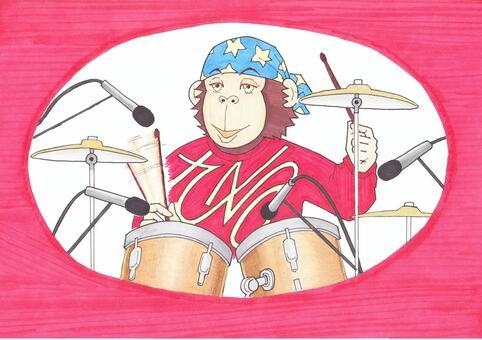 Monkey's drummer