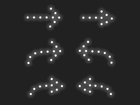 箭頭照明材料集:白線