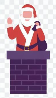 聖誕老人在煙囪裡