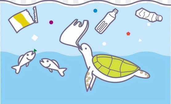 Sea plastic waste problem