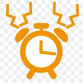 Alarm clock icon_orange