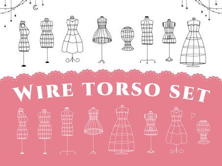 Wire torso set