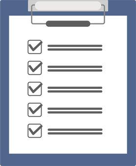 清單活頁夾插圖海軍藍色