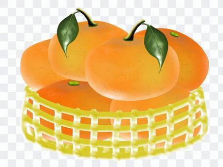 橘子在籃子裡
