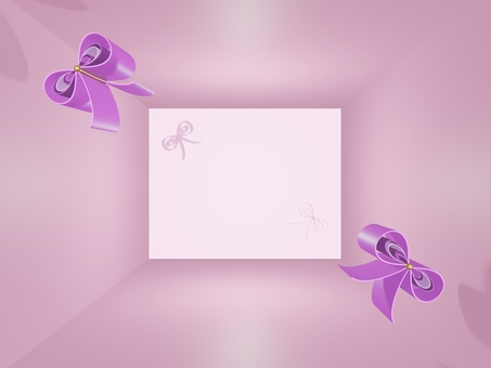 3d illustration of two pink ribbons