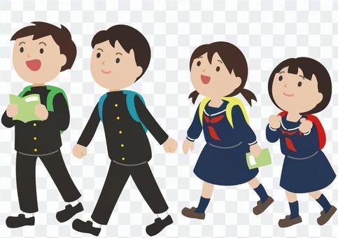 初中生(學校遊覽)