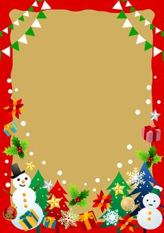 聖誕節項目相框紅色垂直