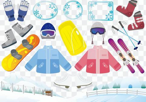 冬季運動圖像素材集