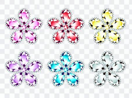 花卉圖案的寶石