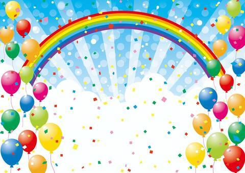 氣球和天空背景素材09