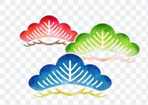 沖繩紅色風格插圖