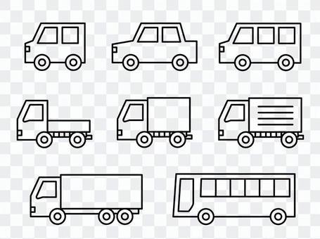 各种汽车(画线)