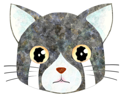貓臉(灰/白)4