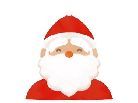 水彩風格的微笑聖誕老人圖標