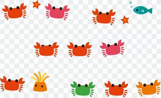 Various crab