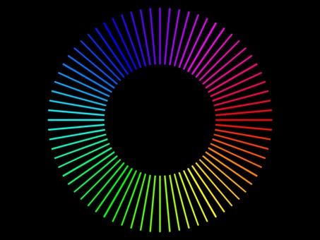 線性色調漸變排列成圓形