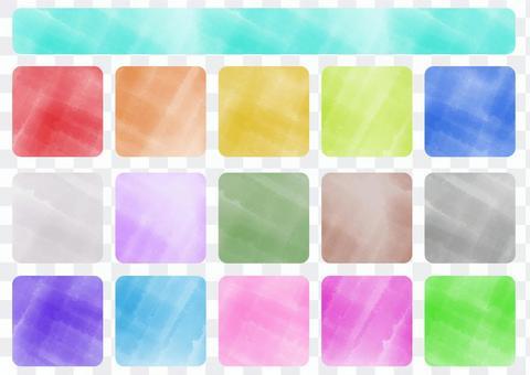 水彩風格色板集