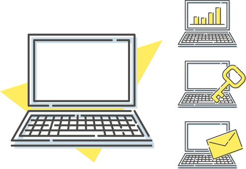 各種個人電腦的插圖