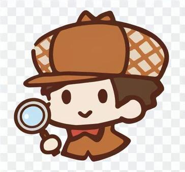 圖標/偵探男孩(放大鏡)