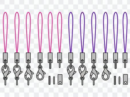 背帶 - 粉紅色·紫色