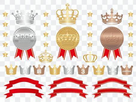 皇冠,獎牌,功能區設置