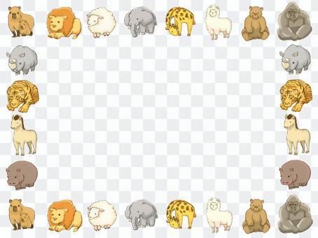 動物可愛的變形的框架