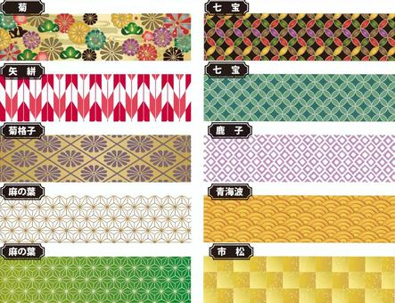 Japanese pattern material