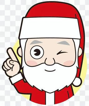 Pointing Santa Claus (wink)