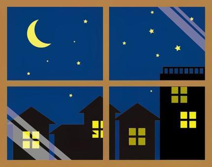 Landscape window (night sky)